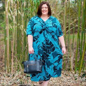 Catherines Palm Print Maxi Dress